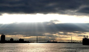 Ambassador Bridge crop