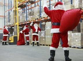 warehouse santas