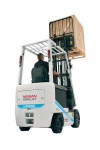 The Nissan Forklift by UniCarriers brand BX series lift truck.