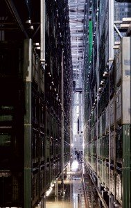 MIVOR's high density, high bay warehouse.