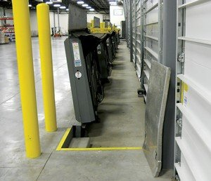 Vertical-storing dock levelers help to maintain security, as well as environmental control.