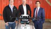 Matt Sweeny, Don Meij (Domino's (DPE) Group CEO) and Minister Simon Bridges (Minister of Transport)