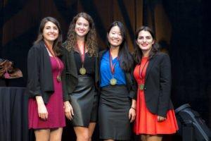 The HEC team: L-R Julie Soriano, Amélia Di Liello-Roberge, Cathy Pak, Sabine Signor.