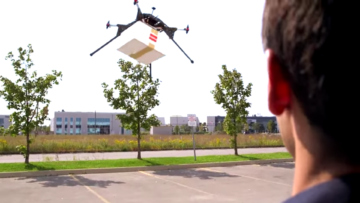 A screen capture from Drone Delivery Canada video.
