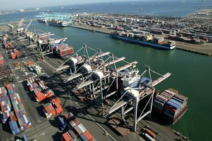 Port of Los Angeles container terminals.