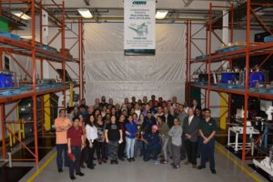 Staff at the Orbis Toronto plant celebrate their win.