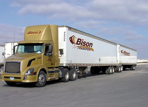 Bison Transport's long combinatin vehicle division is just one of many that the Winnipeg-based company has started up during its 40 years in the biz.