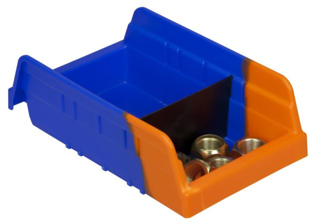 The two-toned Indicator Bin is designed to simplify visual recognition when supplies need to be replenished.