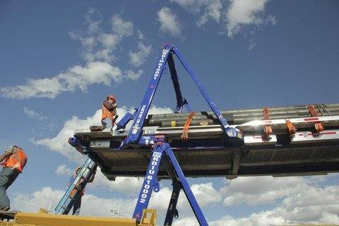 Canadian Pacific has been testing Raildecks' 53-ft, collapsible, multimodal carriers over the summer at its Toronto Intermodal Facility in Vaughan, Ont.