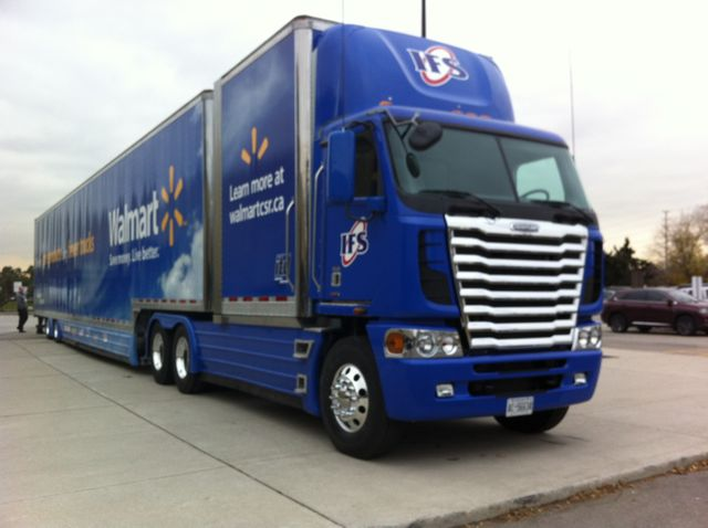 Walmart 'supercube' vehicle unveiled at Mississauga, Ont. home office.