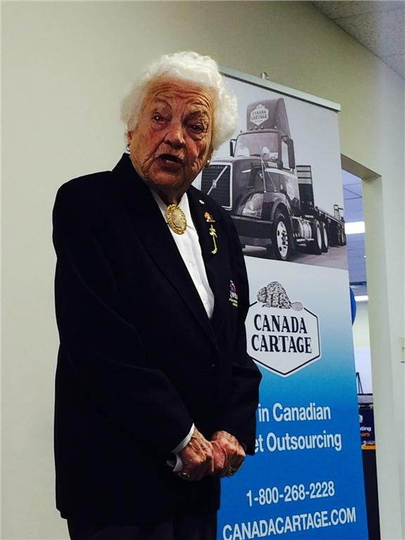 Mississauga mayor Hazel McCallion speaks at the ceremony