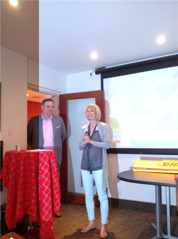 Greg Hewitt, President DHL Express Canada and Roxane Joyal, CEO of Me to We, and founder of Me to We Artisans.