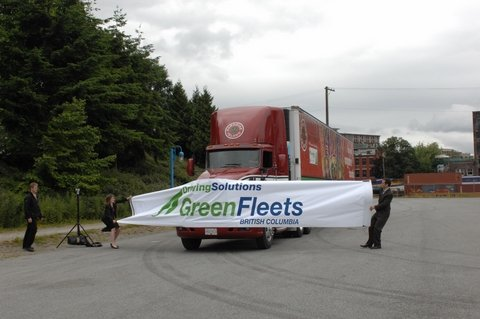 B.C.'s first enviroTrucks have officially hit provincial highways.