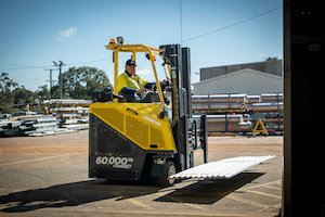 Combilift forktruck in operation