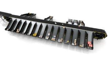 vertical crossbelt sorting conveyor