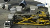 Loading cargo into a Boeing 747